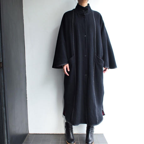 Made in Finland wool cape  sleeve coat