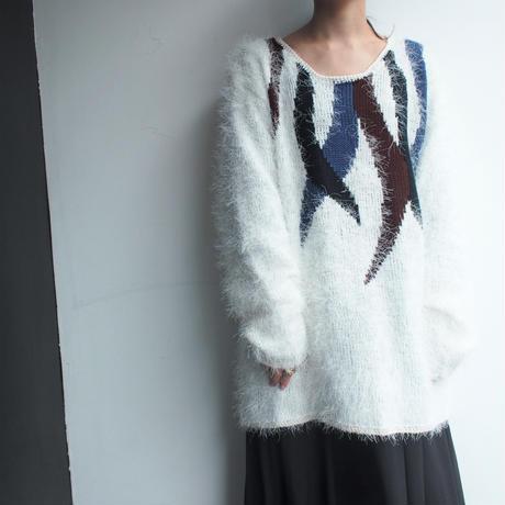 Shaggy white Knit