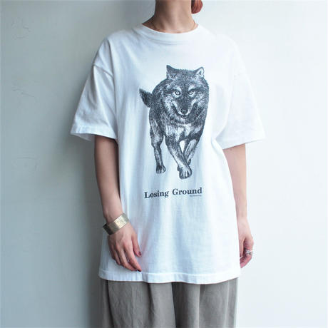 Made in USA Wolf printed T-shirt