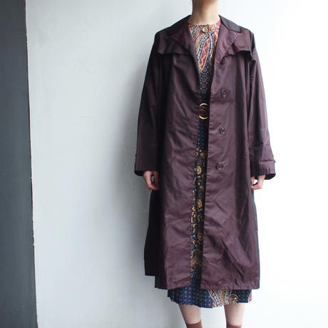 Made in Italy  Bordeaux brown open collar coat