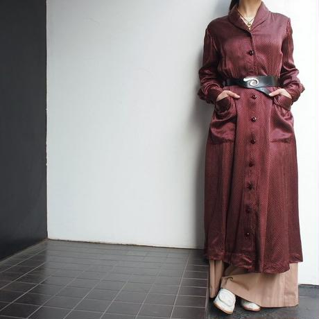 Euro 1950's,1960's Dot Gown
