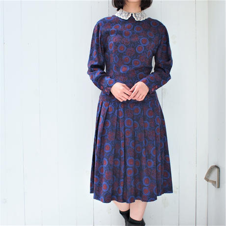 Paisley lace collar dress