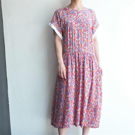 French sleeve flower printed dress