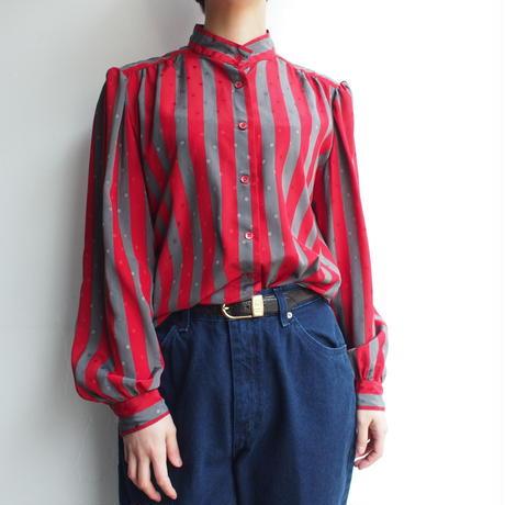 BALENCIAGA made in France stripe blouse