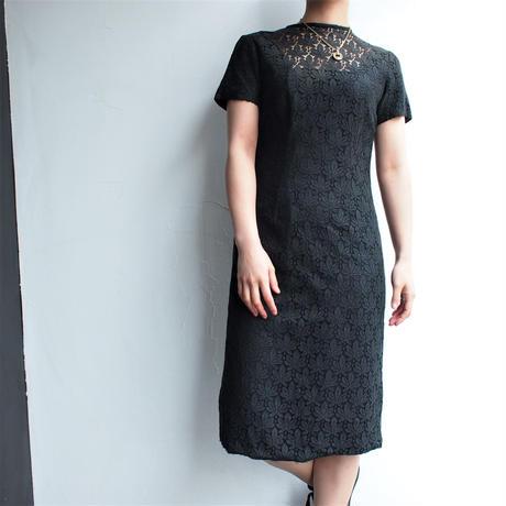 1960's ~All black lace dress