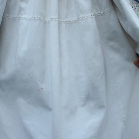 1940's50's East Europe  embroidery dress 【Light grayishColor】
