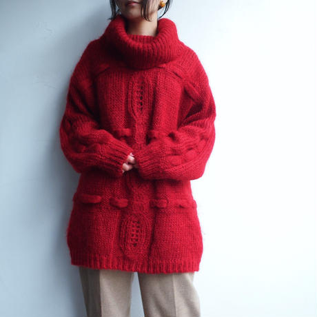 Mohair blend  turtleneck big knit
