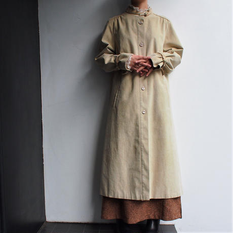Made in W.Germany Fake Suede stand collar coat