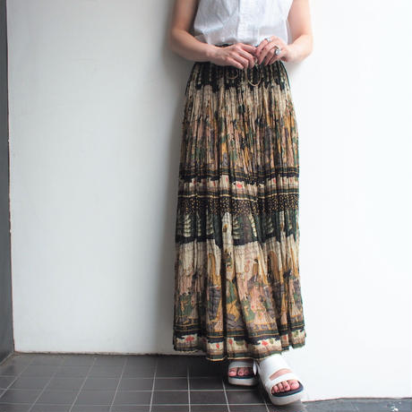 India Cotton ethnic print skirt