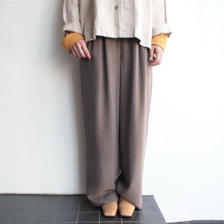 Silk Slacks straight pants