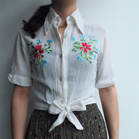 Made in INDIA cotton embroidery blouse