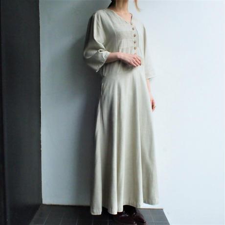Silk savanna beige  drape dress