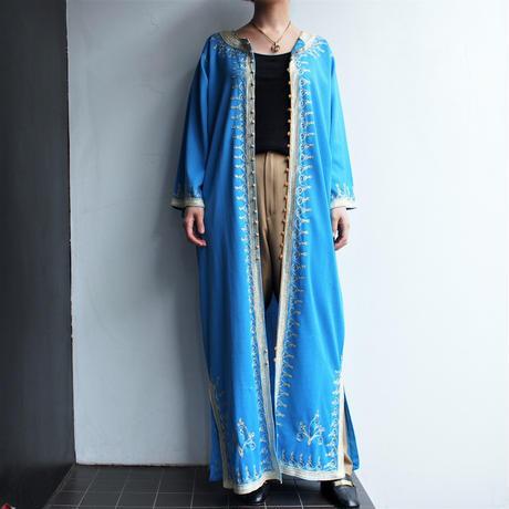 Light blue long gown coat