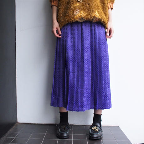 Purple dot skirt