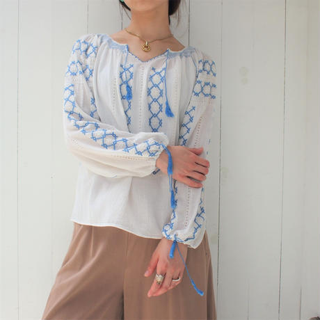 East  Europe blouse (blue)