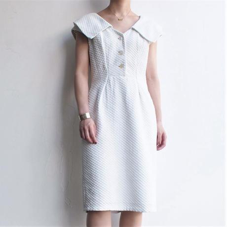 1960's70's Round collar white dress