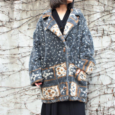 Made in Finland Blue gray Nordic boa Jacket