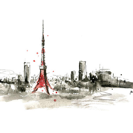 Tokyo tower(ジークレープリント、限定枚数)