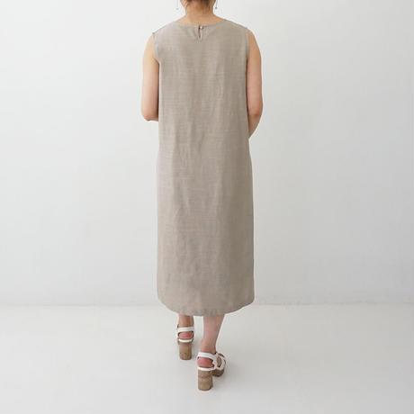 【特別提供品】麻混刺繍ワンピース[3016683]