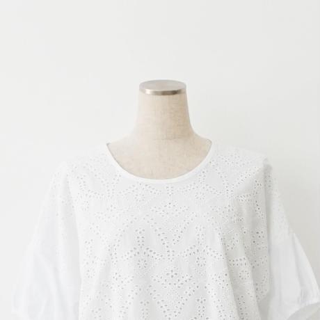 【特別提供品】前身刺繍レースTシャツ[4141230]