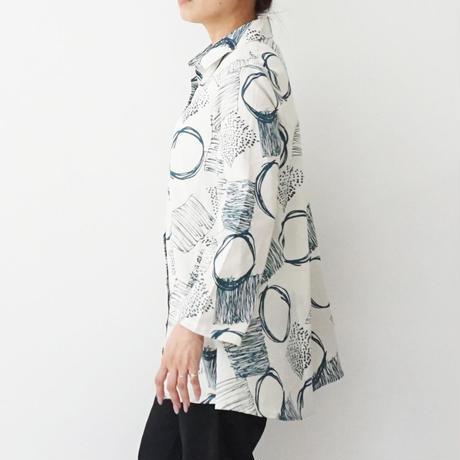 【特別提供品】パネルプリント前開きシャツ[1433919]