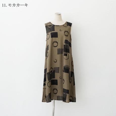 【特別提供品】麻混プリントワンピース[3016696]