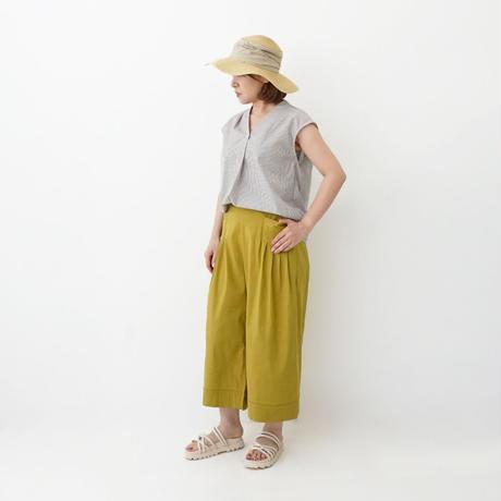 麻混サイドポケットワイドパンツ[3197015]