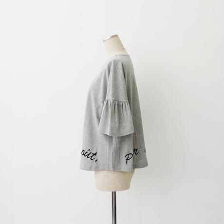 【WEB限定商品】裾英字刺繍カットソー[3011397]