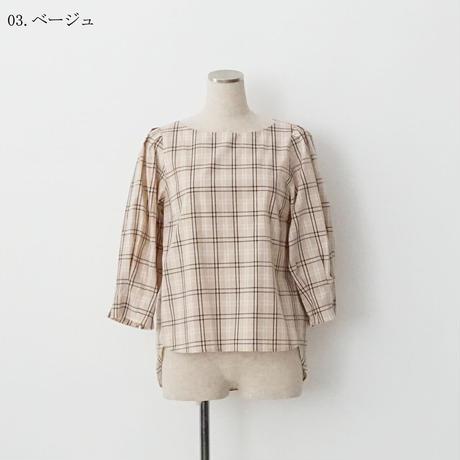 【特別提供品】ノーカラーブラウス[4083666]