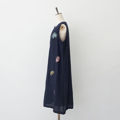 【特別提供品】麻混刺繍ワンピース[3016684]