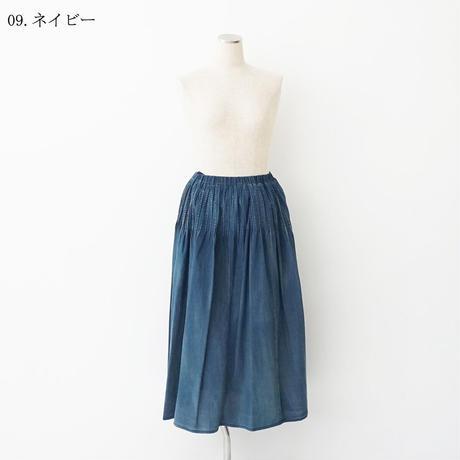 【特別提供品】ヴィンテージデニム調ピンタックスカート[7117961]