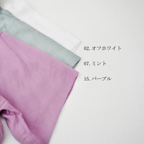 【特別提供品】麻混前開きブラウス[4083874]