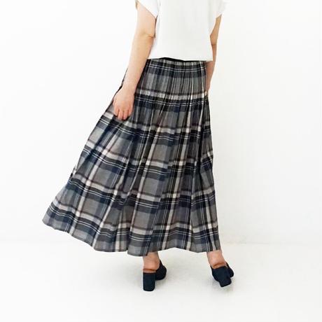 ウォッシャブルチェック柄スカート[7117009]