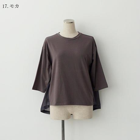 バックシフォン切替カットソー[3011251]