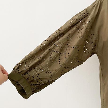 袖刺繍ブラウス[4083789]