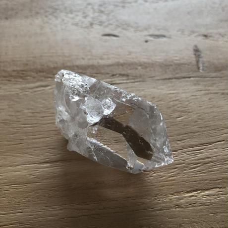 インド マニハール 産 ヒマラヤ水晶ポイント(NO.24)マスタークリスタル/バーナクル