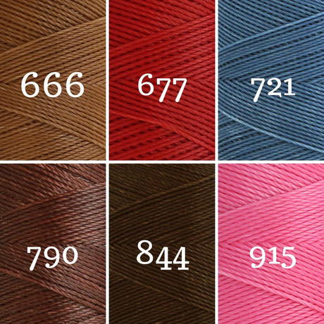 LINHASITA社製ワックスコード<取り扱い60色> 0.75mm (ロウビキ紐 蝋引き紐 waxcord) お好きな12本セット