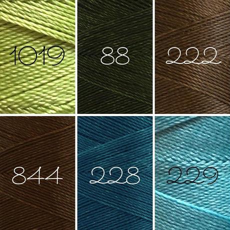 LINHASITA社製ワックスコード<取り扱い34色> 0.5mm (ロウビキ紐 蝋引き紐 waxcord) お好きな3本セット