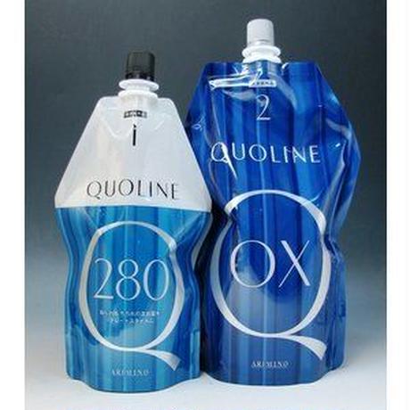 アリミノ クオライン T-C 280 1剤 N 400g と クオライン OX 2剤 N 800g のセット