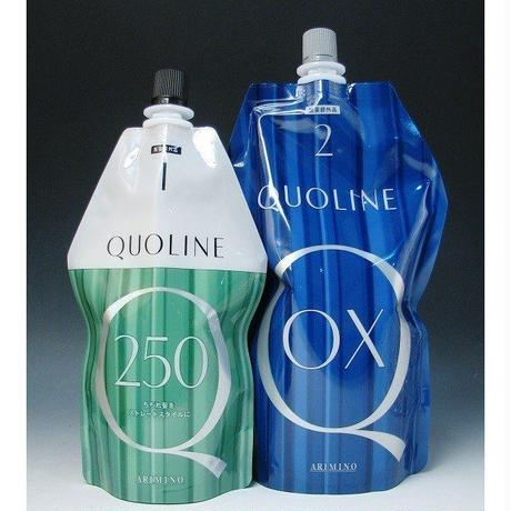 アリミノ クオライン T-C 250 1剤 N 400g と クオライン OX 2剤 N 800g のセット