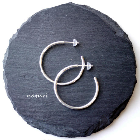 【tronc】sv925 hammered pierce (2pcs)
