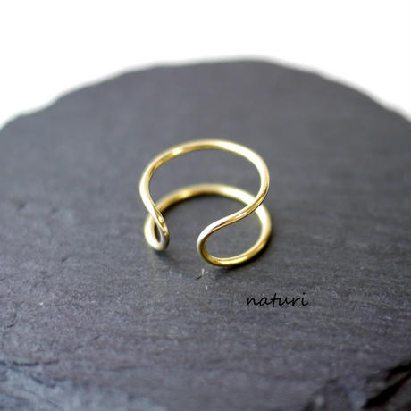 【luna】brass moon ring