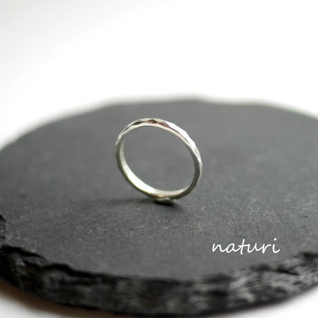 【tronc】sv925 hammered ring