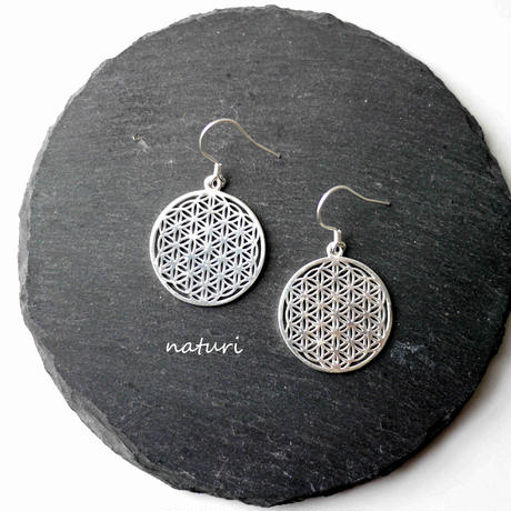 【fleur】sv925 flower of life pierce (2pcs)