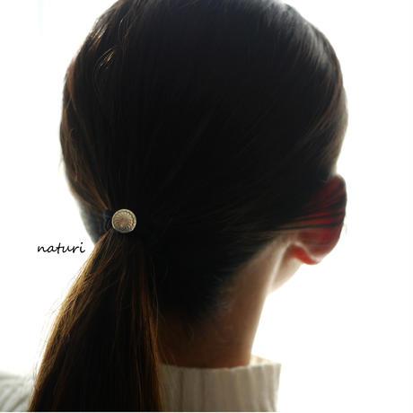 【fleur】sv925 flower hair elastic