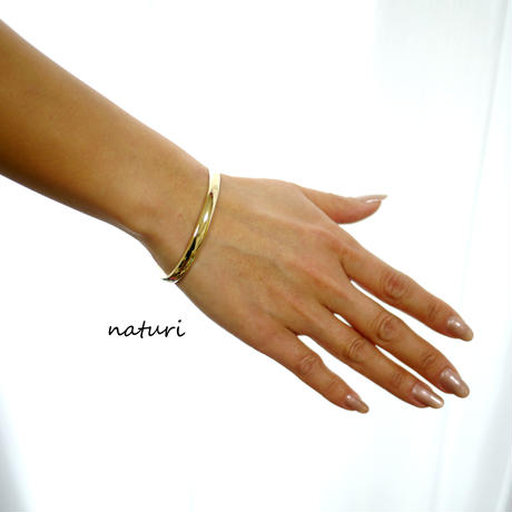 【luna】brass moon bangle