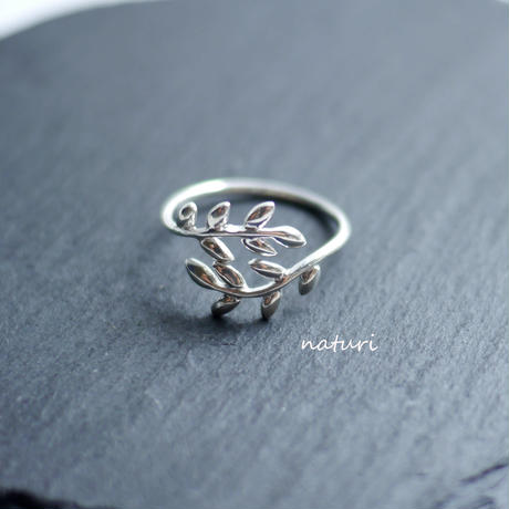 【feuille】sv925 leaf ring
