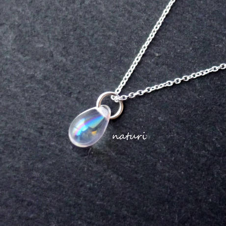 【rosee】glass drop necklace aurora