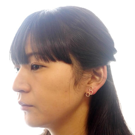 【honeycomb】sv925 hachinosu pierce (2pcs)