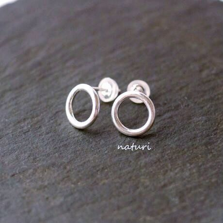 【luna】sv925 moon pierce Ⅱ (2pcs)